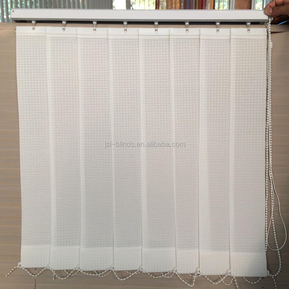 2017 color blanco tela cortina vertical barato persianas - Cortinas y visillos baratos ...