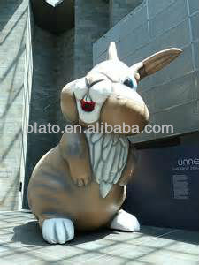 cute and lovely inflatable cartoon rabbit for advertising