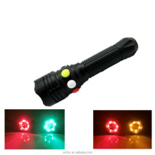 Aluminum Railway Long Range Emergency Military High Power Hunting led Torch Red Green White Flashlight