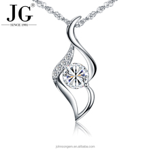 Newest design meaningful sterling silver 925 angel love kiss girl sex lip cystal zircon white gold plated pendant necklace