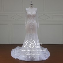 XF16044 luxury wholesale long sleeve sexy design wedding dresses