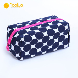 Cosmetic Bag Makeup Pouch with round dots eco-friendly cosmetic bag