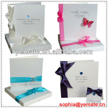 paper cardboard silk boxed wedding invitations box scroll invitation