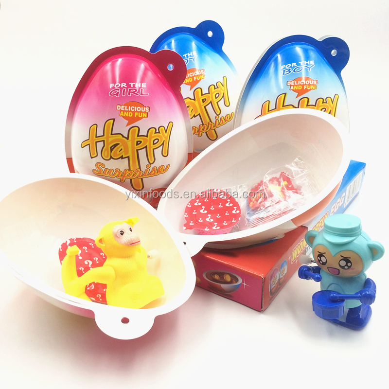 New kiner surprise halal wholesale happy chocolate egg with toy inside