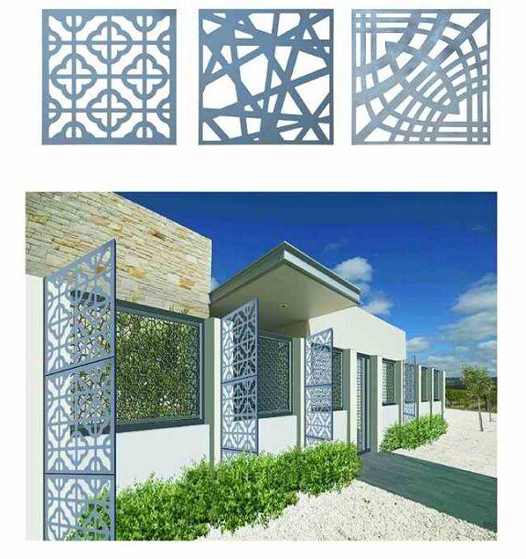 Cnc Laser Cutting Decorative Perforated Aluminum Facade
