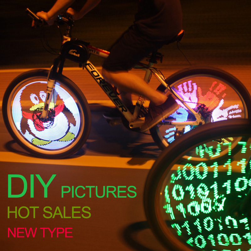 Led programmable spoke bike light, colorful DIY bicycle wheel light