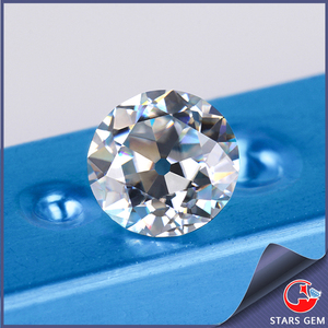 round old european cut 8mm moissanite excellent quality fake loose diamonds stone