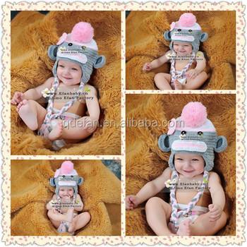 Jimo Efan Wholesale Cute Baby Boy Crochet Monkey Free Baby Photo