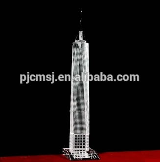 2015 Exquisited 3d Crystal f tower model,all Glass Freedom Tower For New York Souvenir