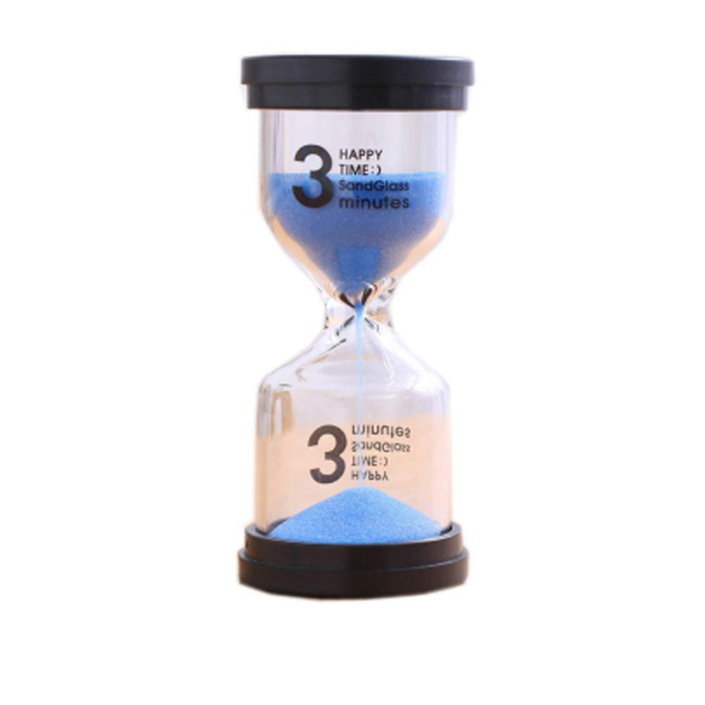 Blancho Bedding Colorful Sand Timer Hourglass Sandglass Small Ornaments Dropping Ueasily, 3 minutes + Blue