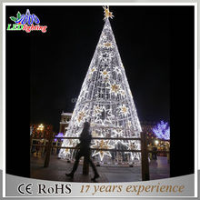 Aluminum alloy cheap led giant outdoor lighting christmas tree