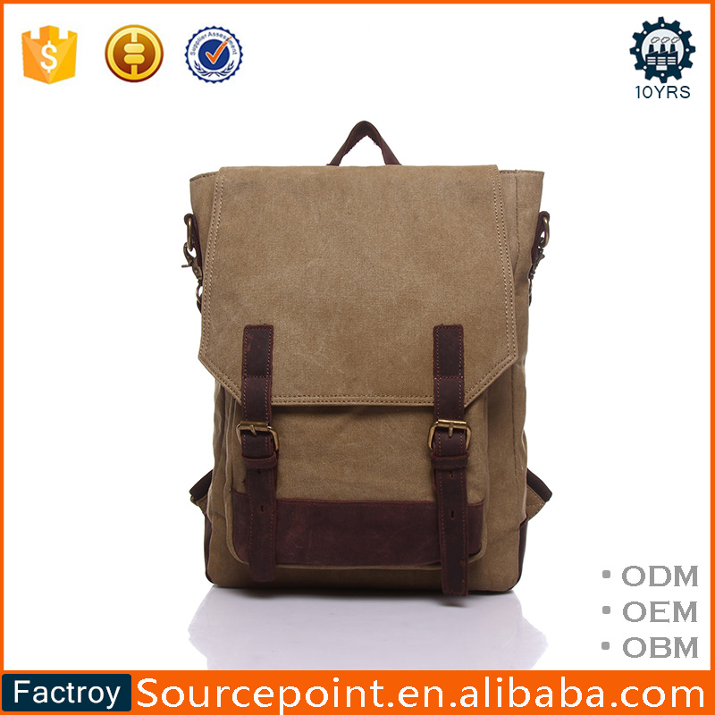 Leisure Daily Use Yd-1914 Vintage Canvas Laptop Backpack For Men ...
