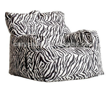 Comfort Research Big Joe Dorm Bean Bag Chair In ZEBRA, Cartoon Fashion  Beanbag Lazy Sofa