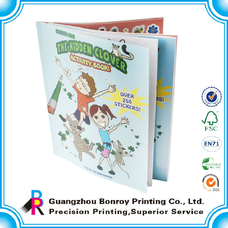 High quality educational sticker book printing for children