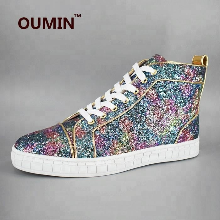 men sneakers casual shoes glitter luxury Eq1FPnw