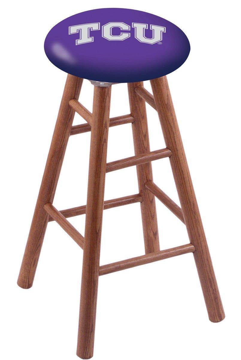 Oak Vanity Stool in Medium Finish with TCU Seat by Holland Bar Stool Co.