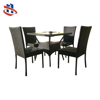3b77b76f6271da Hot Sale Coffee Shop Garden Use Outdoor Furniture Wicker Chair Rattan  Dining Table Set