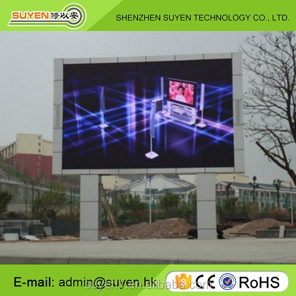 Waterproof IP65 front maintenance P6 outdoor fix installation led display
