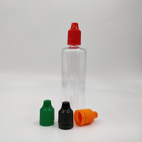 100ml plastic pet glue eliquid e cig juice smoke oil dropper boston rounds bottle with plug CRC screw cap