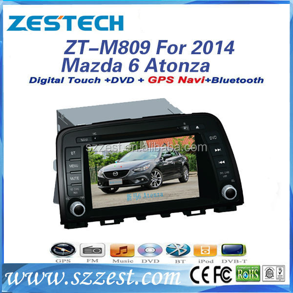ZESTECH touch android wifi car bluetooth for Mazda 6 Atenza 2014 car bluetooth accessories CD player
