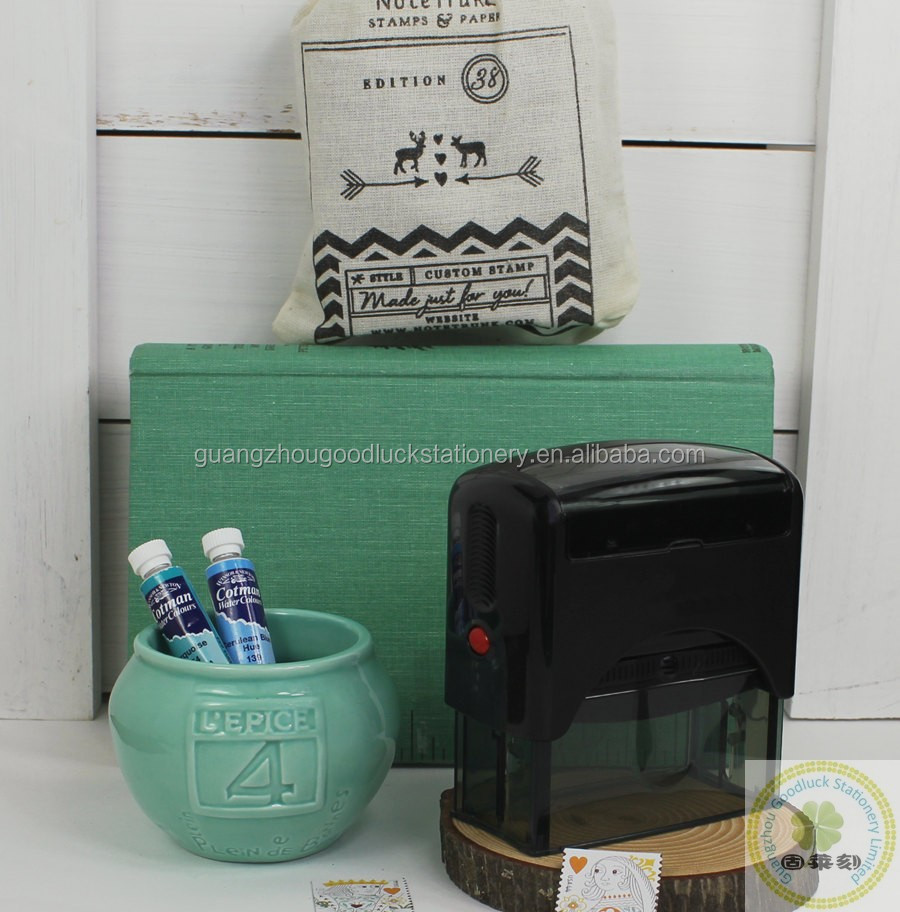 Custom return address pre-inking stamp/Custom address stamp supplies from Goodluck stationery