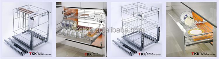 TKK Kitchen Cabinet Soft Close Pull Out Wire Storage Drawer Basket ...