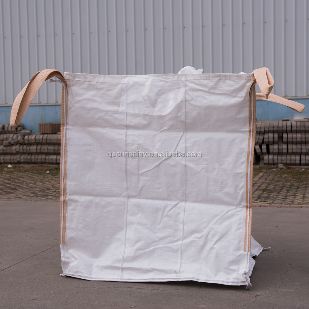 5:1 Safety Factor and Double Stevedore Strap Loop Option (Lifting) FIBC Baffle bulk Square Bags