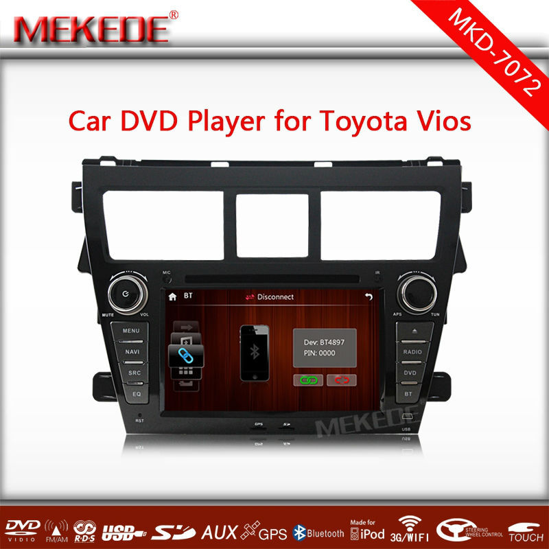 MTK800MHZ Dual Core support 1080p video <strong>Car</strong> multimedia player for <strong>toyota</strong> vios with GPS navigation DVD RADIO BT <strong>TV</strong> free 4GB MAP