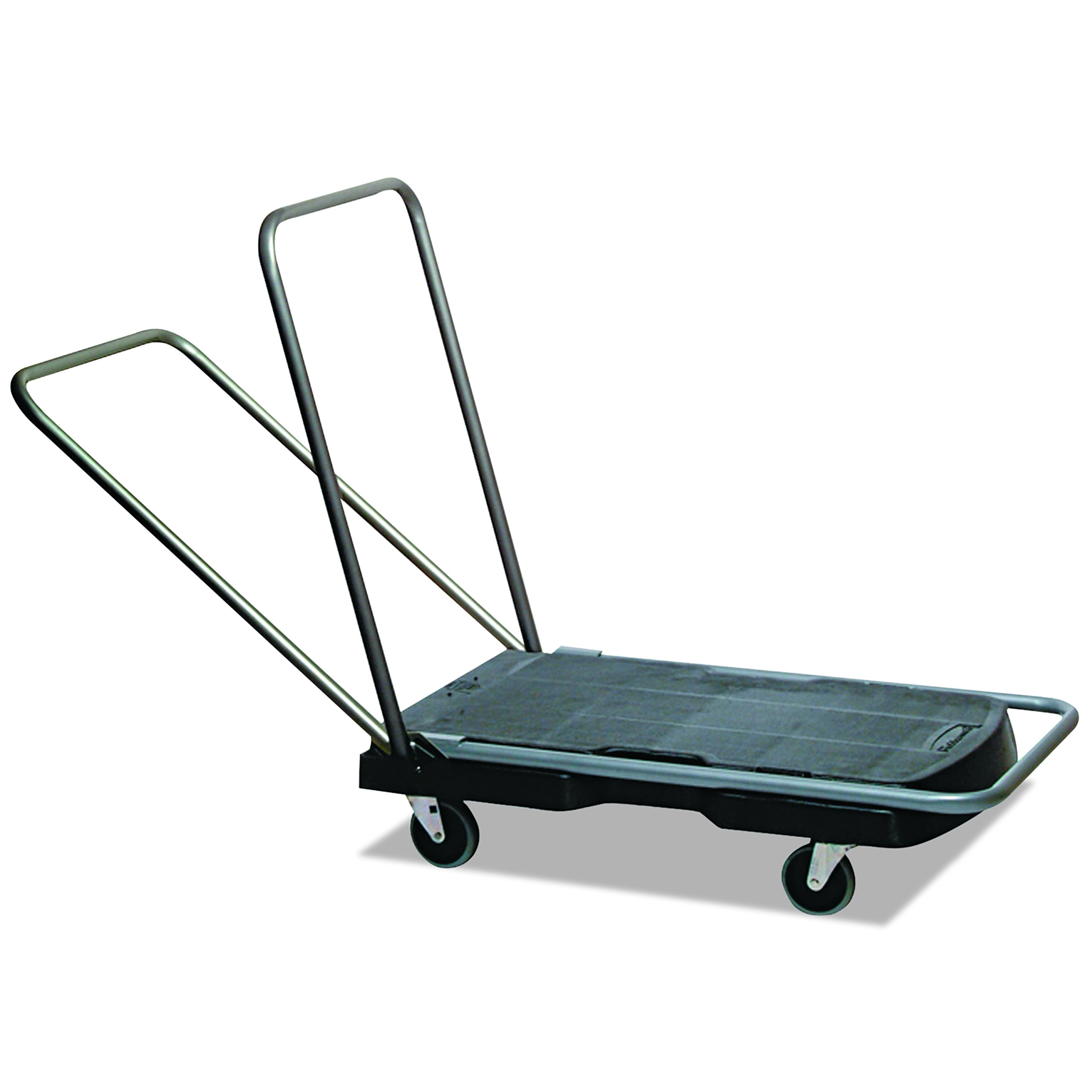 "Rubbermaid Commercial Tripple Trolley Utility-Duty Home/Office Cart, 250 lb Capacity, 20 1/2"" x 32 1/2"", Black (FG440000BLA)"