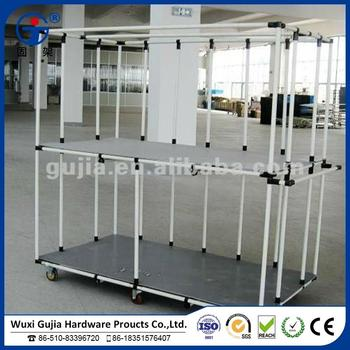 Lean Pipe Racking Systems Coated Pipe Modular Pipe Rack