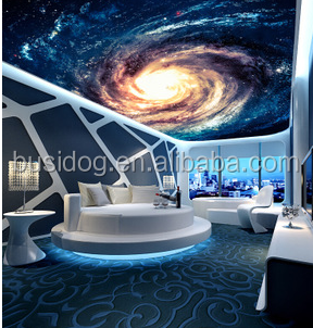3d Effect Outer Space Wall Mural Wallpapers For TV Wall And Roof