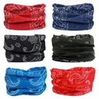 Sun Scarf Bandana Promotion 6 Pieces Per Set Multifunctional Seamless Plain Tube Head Wraps Sun Protection Hairbands Scarf Bandana