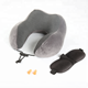 Hot Selling Neck Roll Pillow Super Soft Magnetic Therapy Cloth Memory Foam Car Neck Pillow Travel Set