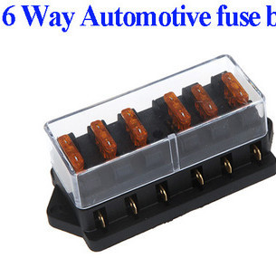 6 way fuse box bus bar led fuse failure warning 12v buy 6 way fuse box bus bar led fuse failure warning 12v