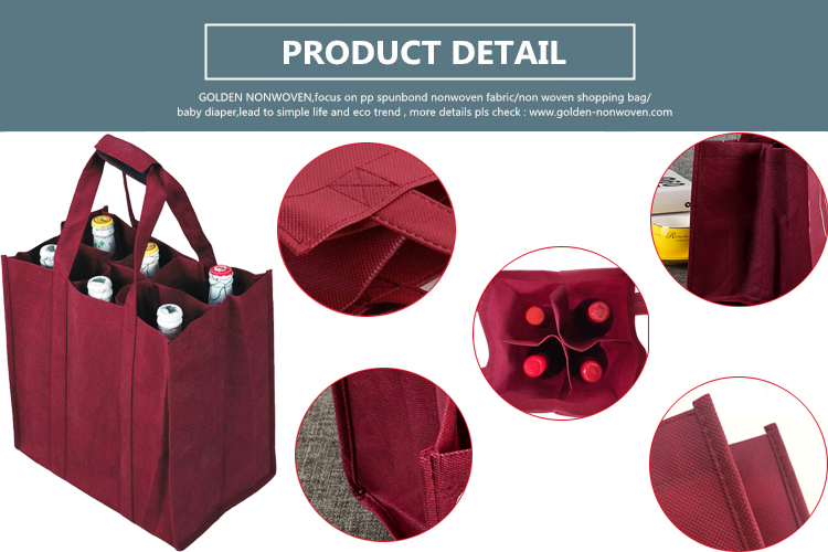 Customized Style and Size Non Woven Wine Package Bag for Promotion or Shopping
