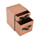 Fancy design special paper 2 layers drawer storage box with leather handle