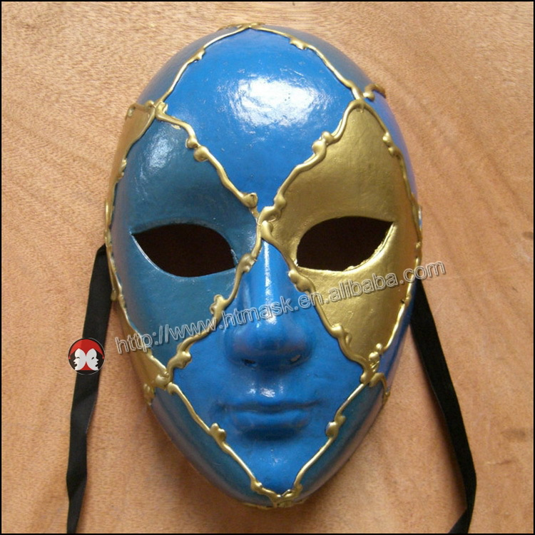 Phantom of the Opera Half Men Face Musical Mask Masquerade Mask Black Gold