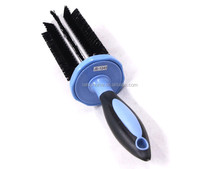 New design pet cat dogs grooming hair brush self easy cleaning slicker brush