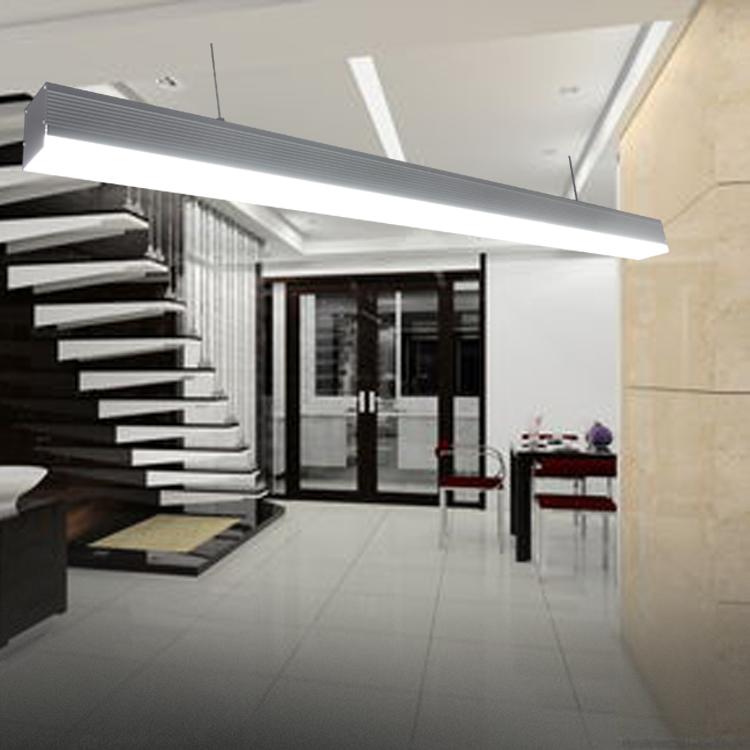 oficina de falso techo decorativo llev la lmpara ahorro de energa de luz led lineal suspendido
