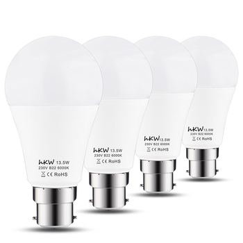 4 Pack Hkw 100watt Incandescent Bulbs Equivalent Non Dimmable 1200lm 13 5watt Bayonet Bulbs Day White 6000k A60 B22 Led Bulbs Buy B22 Led Bulb A60