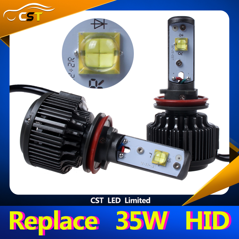 Accept Paypal 2015 Hot Selling Lighting led for Replacing 35W HID Bulb 60W 7200LM V16 LED Headlight comes with Free Samples