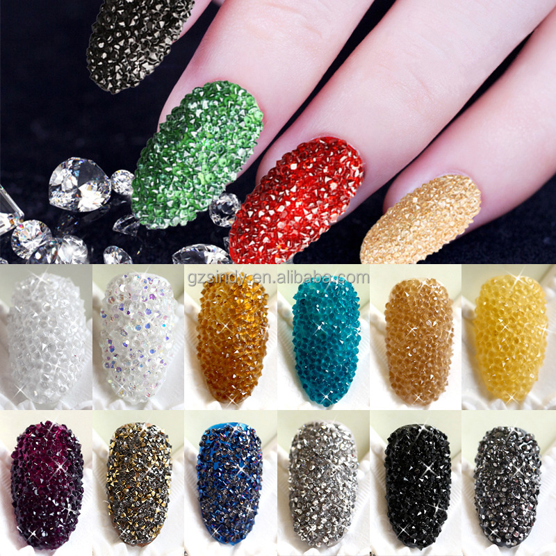 New Arrivals 10000Pcs/Bag Wizard Beads Crystal Sand Fingernails Rhinestone For Nails Accessories