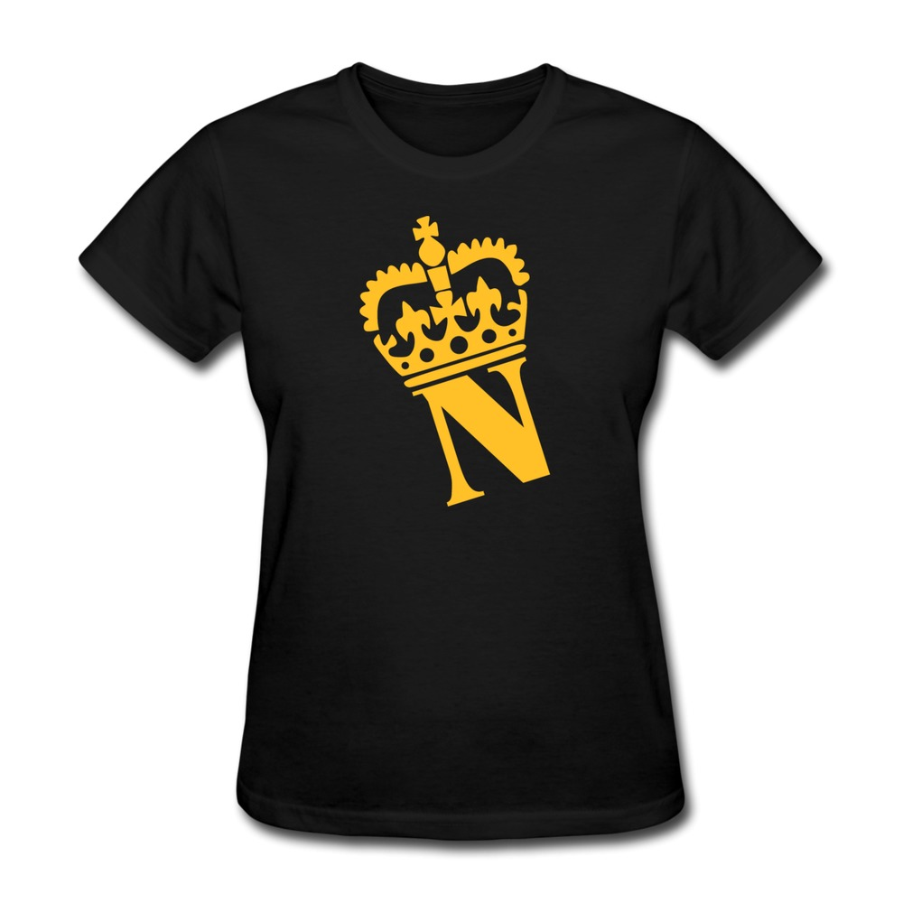2015 Top Designer Crown N Name Pre-cotton Summer women's tshirt on Sale