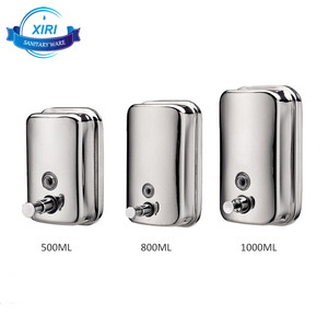 500ml 1000ml wall mounted hand liquid soap dispenser stainless steel shampoo dispenser XRF6607