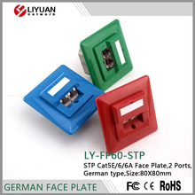 LY-FP60-STP rj45 Network Faceplate/Face Plate