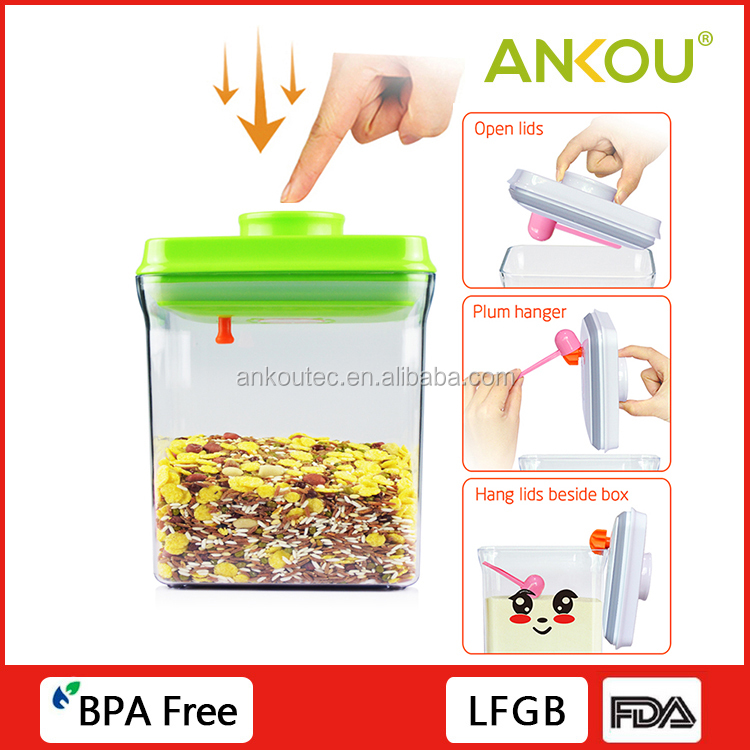 Strongly Sealing 1700ML Food Grade BPA Free Rectangle Plastic Container/Plastic Large Airtight Food Storage Containers