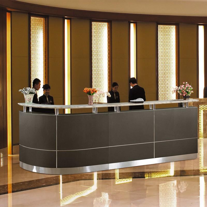 2018 big discount luxury design hotel front desk furniture