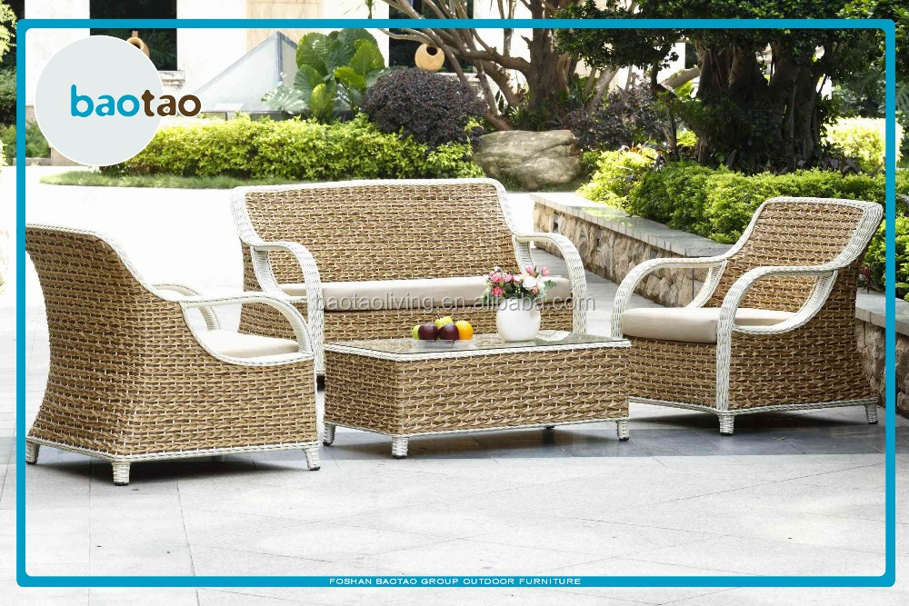 new arrival plastic rattan garden outdoor furniture twisted rattan
