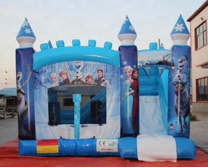 Supply Kids Fun Bounce House Commercial Inflatable Frozen Bouncy Jumping Castle For Sale