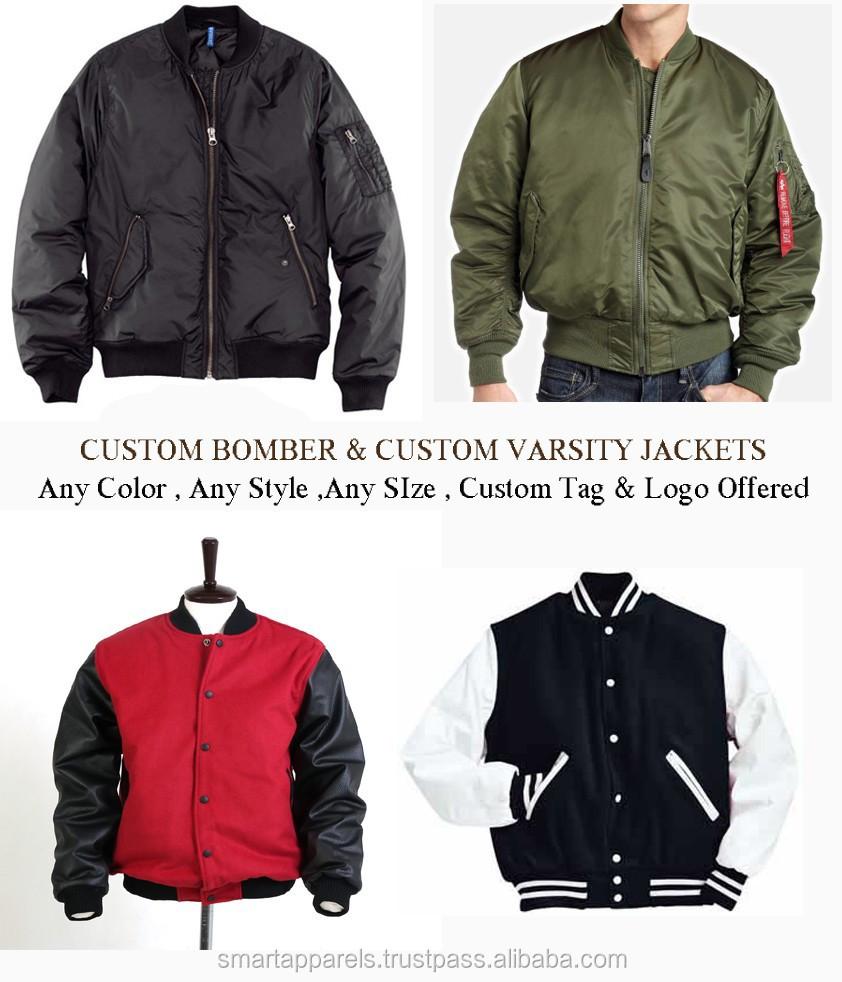 Custom Varsity Jackets,Custom Bomber Jackets - Buy Bomber Jackets ...